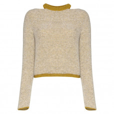 eckhaus latta two tone cut out neck jumper