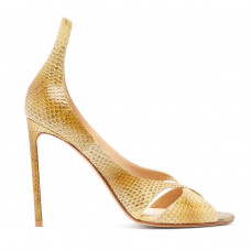 francesco russo snakeskin stiletto sandals