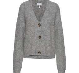 Soft Wool Knit Cardigan by Ganni