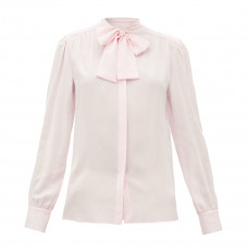 giambattista valli pussy bow silk crepe blouse