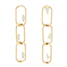 grace lee link earrings 3 with diamonds