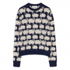 lanvin patterned wool jumper