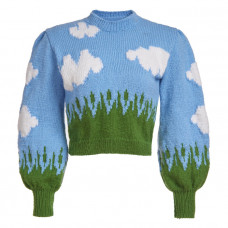 lirika matoshi clouds knit sweater
