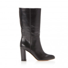 marion parke delila leather block heel mid calf boot
