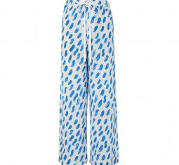 Printed Silk-Georgette Wide-Leg Pants by Marni