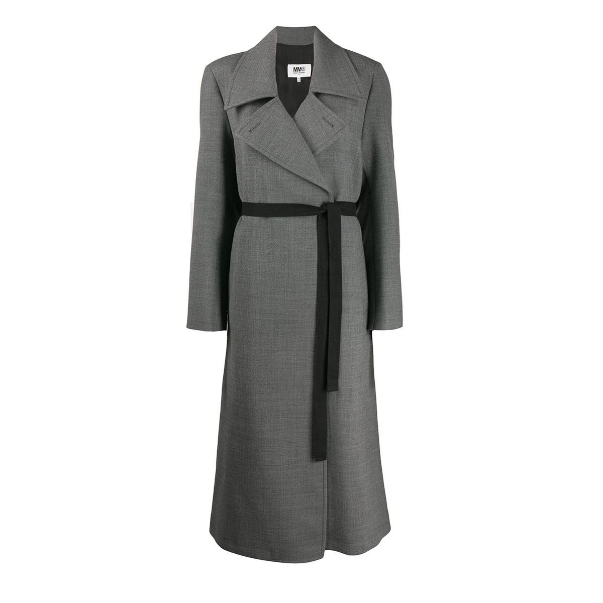 mm6 maison margiela techno wool trench coat
