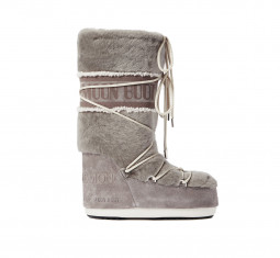x Yves Salomon Shearling & Suede Snow Boots by Moon Boot
