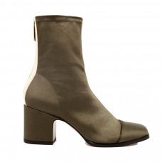 nomasei aria ankle boots in stretch satin