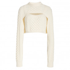 rosie assoulin thousand in one ways wool cotton sweater