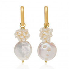 sandralexandra gigi 10k gold plated faux pearl earrings