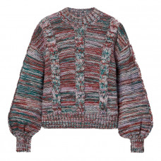 stine goya gio melange cable knit sweater