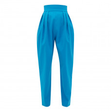 the attico high rise pleated cotton blend trousers