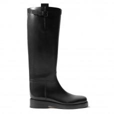 ann demeulemeester buckeled leather knee boots