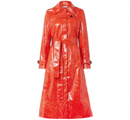 Fini Belted PU Trench Coat by Beaufille