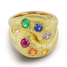 brent neale textured knot ring