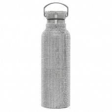 collina strada ssense exclusive silver rhinestone water bottle