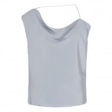 cushnie asymmetrical silk satin top