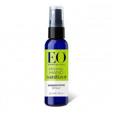 eo organic hand sanitizer spray pepermint travel size