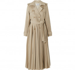 Stein Pleated Cotton-Poplin Trench Coat by Gabriela Hearst