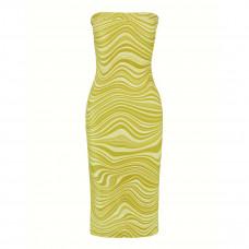 hanne bloch wave velvet tube dress