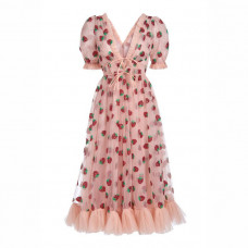lirika matoshi strawberry midi dress