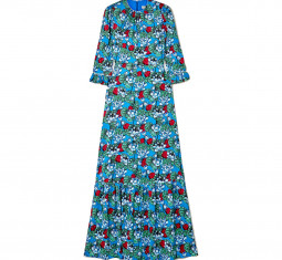 Millais Floral-Print Hammered Stretch-Silk Satin Maxi Dress by Mary Katrantzou