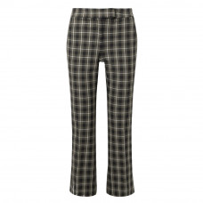 michael michael kors cropped checked cotton blend flared pants