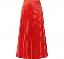 Pleated Satin Midi Skirt by Stella McCartney
