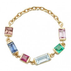 yi collection rainbow chain ring