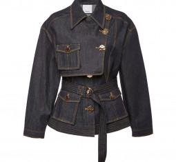 Lewis Belted Denim Jacket by Acler