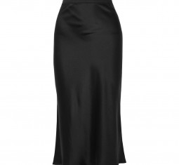 Bar Silk-Satin Midi Skirt by Anine Bing