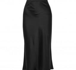 Bar Silk-Satin Midi Skirt by Anine Bing
