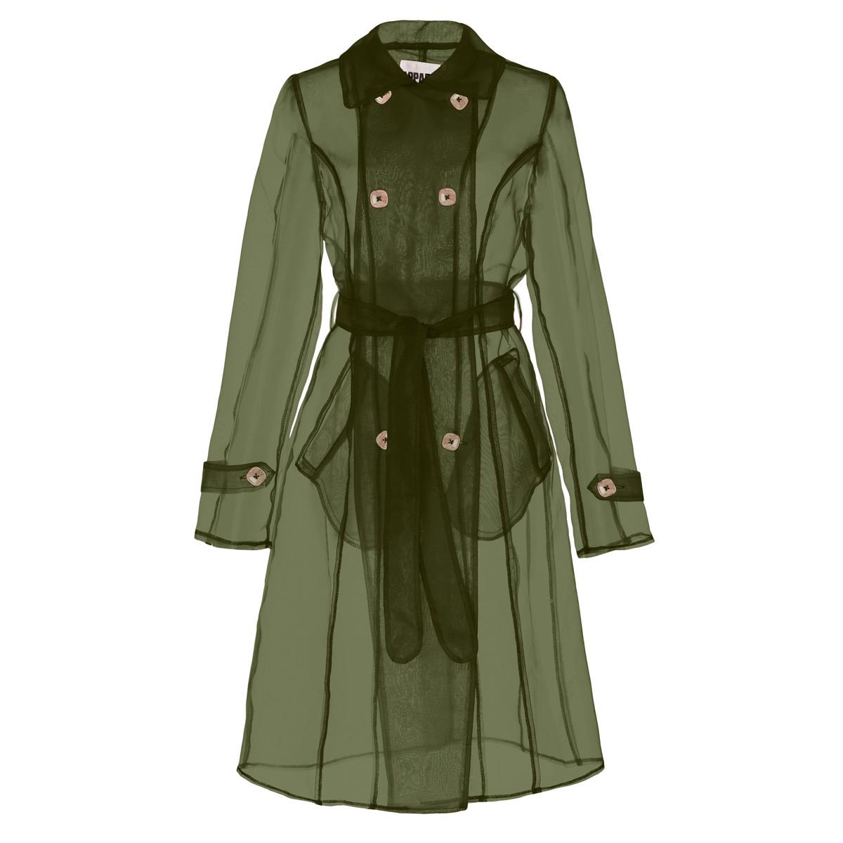apparis olivia organza sheer trench coat
