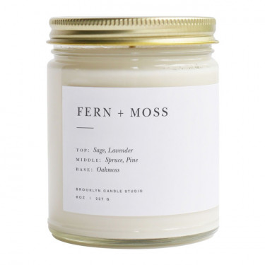 brooklyn candle studio fern and moss minimalist candle