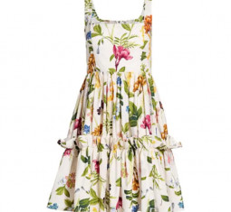Sasha Floral Apron Flare Dress by Cara Cara