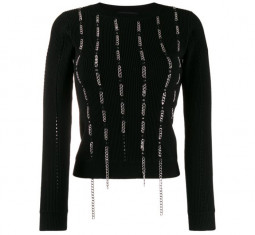 M-LYV Openwork Pullover with Chain Details by Diesel