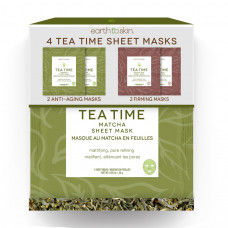 earth to skin tea time anti aging sheet masks