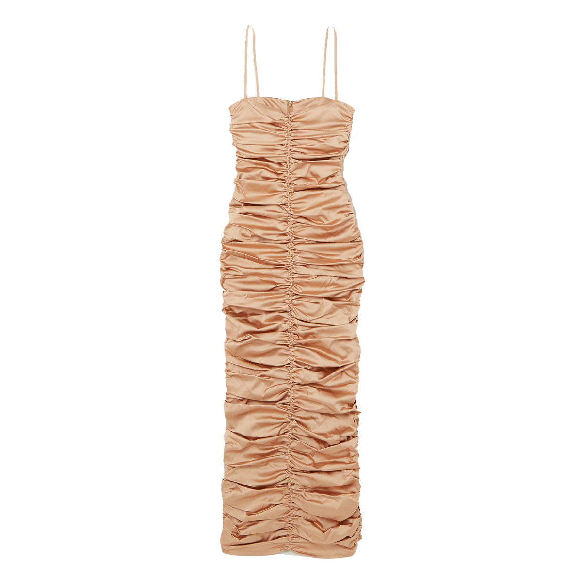 georgia alice eva ruched satin maxi dress