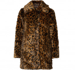 Leopard-Print Faux Fur Coat by J.Crew