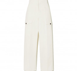 Cropped Cotton Straight-Leg Pants by LVIR