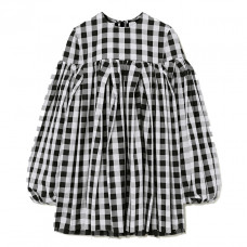 marques'almedia gingham cotton mini dress