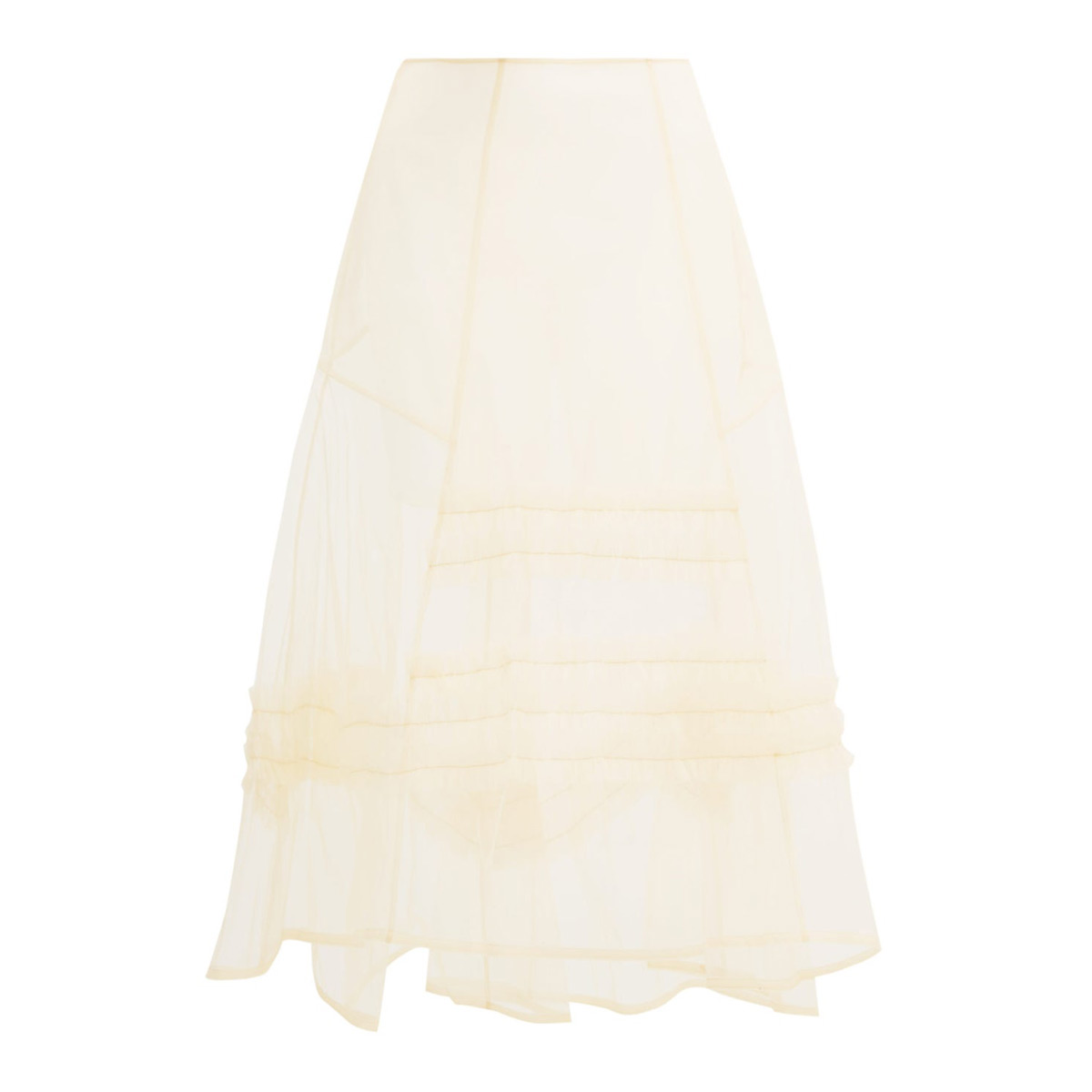 molly goddard alva ruffle trim sheer tulle skirt