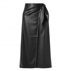 nanushka amas vegan leather wrap skirt