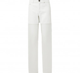 Paneled Faux Leather and Organza Straight-Leg Pants by Peter Do