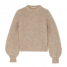 reformation tatum ribbed alpaca blend sweater