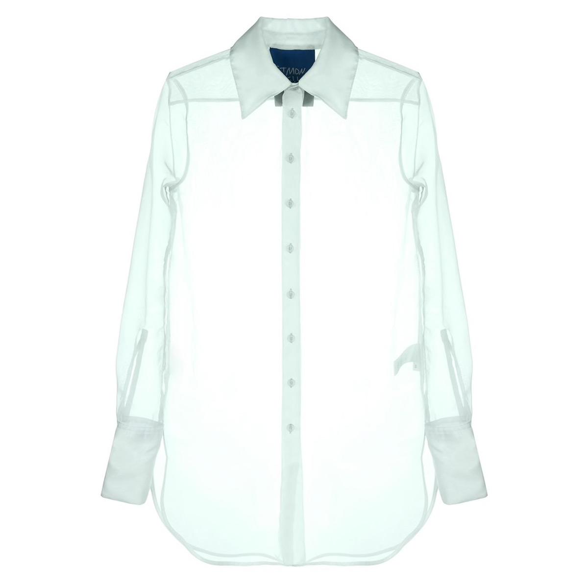 simon miller sheer longline shirt