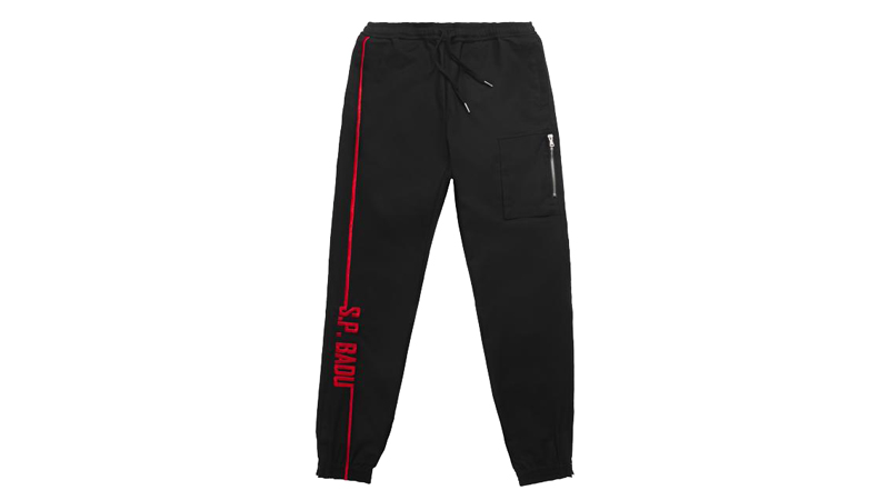 spencer badu red sp badu logo joggers