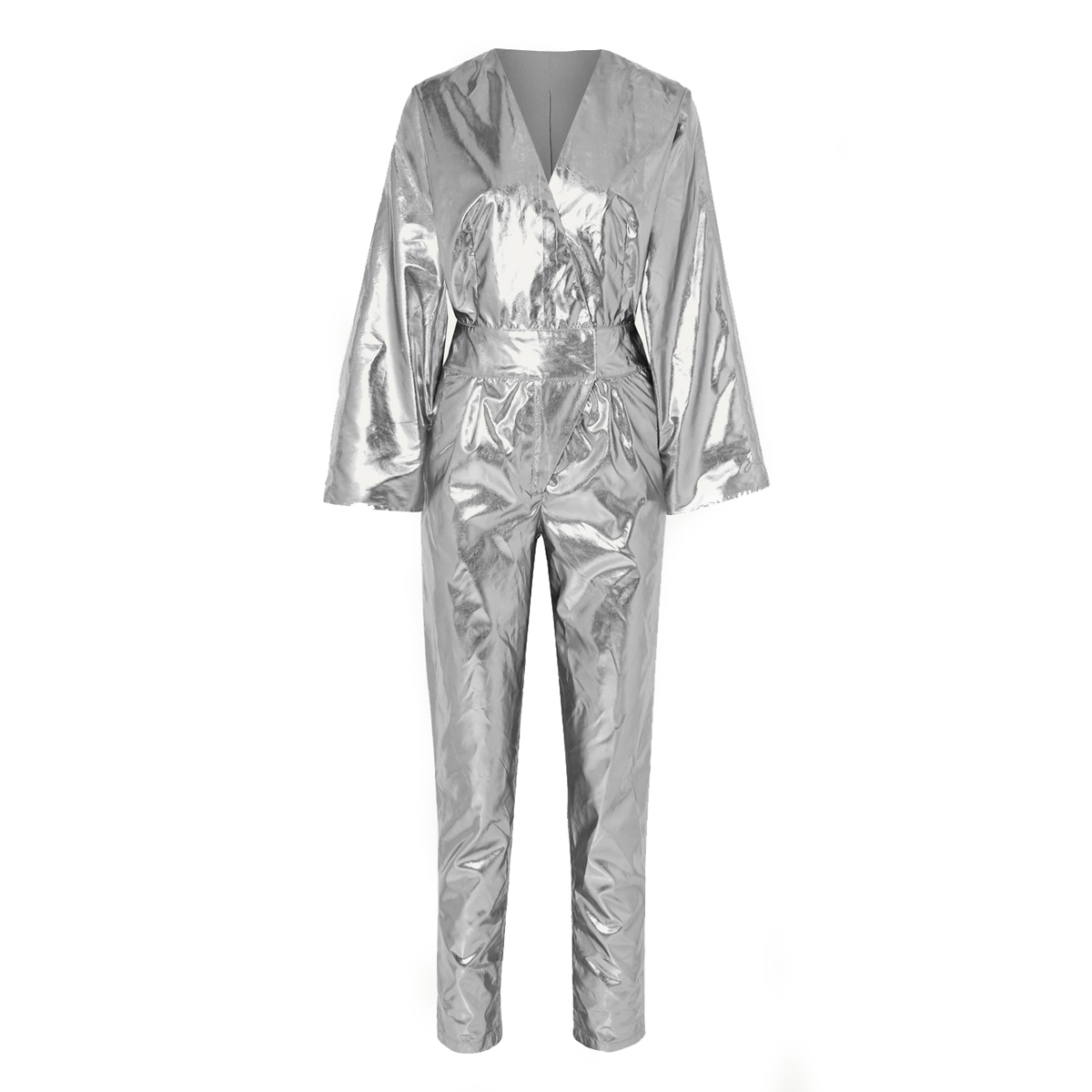 stand studio and pernille teisbaek amiya metallic faux leather jumpsuit