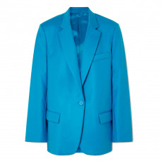 the attico oversized cotton blend gabardine blazer