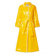 thom browne glossed pu trench coat